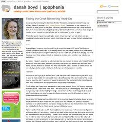 danah boyd | apophenia