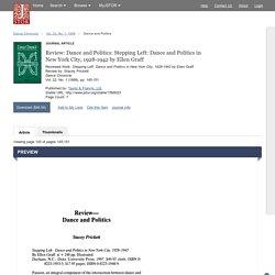 Dance and Politics on JSTOR