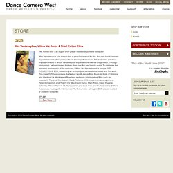Dance DVD's - Dance Film Festivals