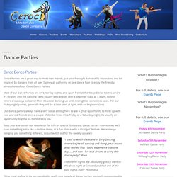 Dance Parties - Ceroc and Modern Jive Dance Company