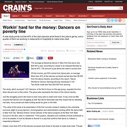 Workin' hard for the money: Dancers on poverty line