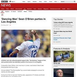 'Dancing Man' Sean O'Brien parties in Los Angeles