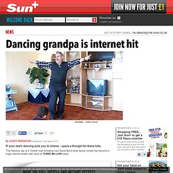Dancing grandpa is internet hit