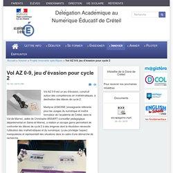 Dane de Créteil - Vol AZ 0-9, jeu d'évasion pour cycle 2