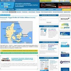 Danemark : l'appel d'offre de l'éolien offshore en 2013