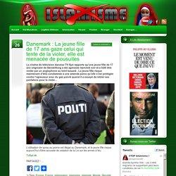 Danemark : La jeune fille de 17 ans gaze celui qui tente de la violer, elle est menacée de pousuites