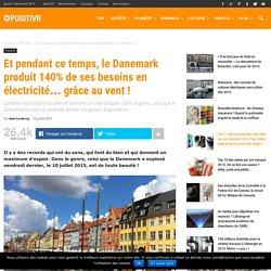 Et pendant ce temps, le Danemark produit 140% de ses besoins en électricité... grâce au vent !