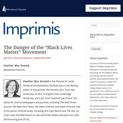 "The Danger of the ""Black Lives Matter"" Movement - Imprimis"