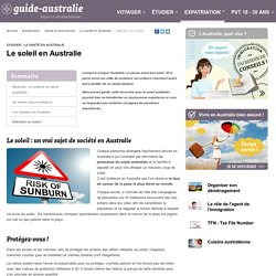 Danger du soleil en Australie