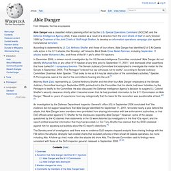 Able Danger, wikipedia