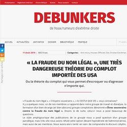 «La fraude du nom légal», une très dangereuse théorie du complot importée des USA