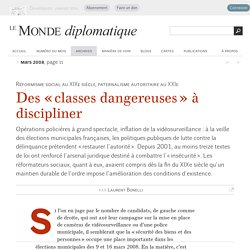 Des « classes dangereuses » à discipliner, par Laurent Bonelli (Le Monde diplomatique, mars 2008)