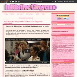 Vaccin Meningitec: le rapport italien accablant sur les dangereuses nanoparticules