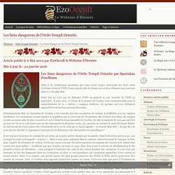 Les liens dangereux de l'Ordo Templi Orientis