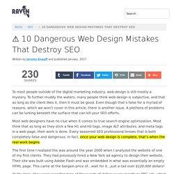 ⚠️️ 10 Dangerous Web Design Mistakes That Destroy SEO
