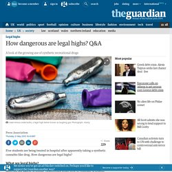 How dangerous are legal highs? Q&A