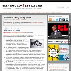 26 Internet safety talking points
