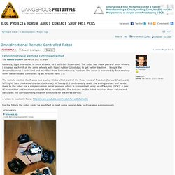 forum • View topic - Omnidirectional Remote Controlled Robot