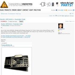 Nordic nRF24L01+ Example Code