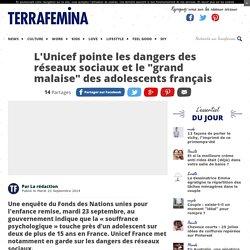 """L'Unicef pointe les dangers des réseaux sociaux et le """"grand malaise"""" des adolescents français"""
