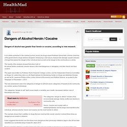 Dangers of Alcohol Heroin / Cocaine