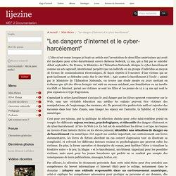 """Article """"Les dangers d'Internet et le cyber-harcèlement"""""""
