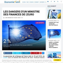 Les dangers d'un ministre des Finances de l'euro