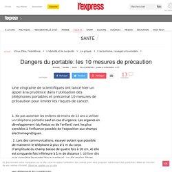 Dangers du portable: les 10 mesures de précaution