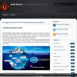 Les dangers du web profond et ses malwares, Qu'est-ce que le web profond ? - Anti Virus1