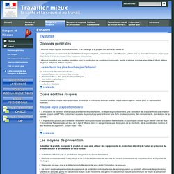 TRAVAILLER MIEUX_GOUV_FR – Ethanol