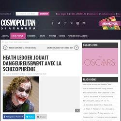 Heath Ledger jouait dangeureusement avec la schizophrénie