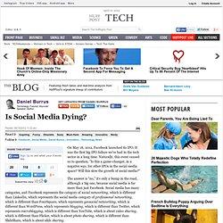 Daniel Burrus: Is Social Media Dying?