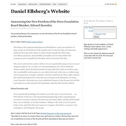 Daniel Ellsberg's Website —