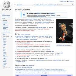 Daniel Goleman wikipédia
