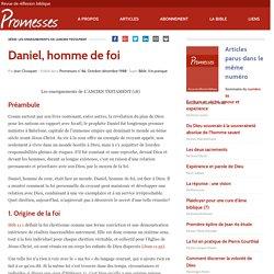 Daniel, homme de foi – Promesses