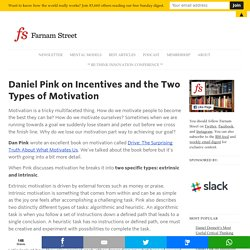 Daniel Pink on Incentives and the Two Types of Motivation