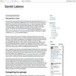 Daniel Lakens: The perfect t-test