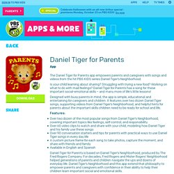 Daniel Tiger for Parents Mobile Downloads