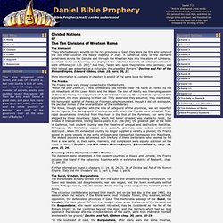 Daniel Bible Prophecy - The Ten Divisions of Rome