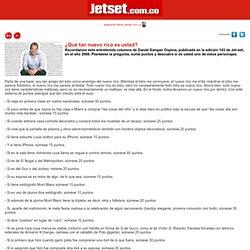 Daniel samper ospina columna ¿Qué tan nuevo rico es usted?, Columna - JetSet.com.co