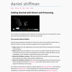 Getting Started with Kinect and Processing