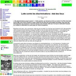 Danièle Lochak : Lutte contre les discriminations: état des lieux : Gisti