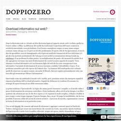 Daniele Dodaro. Overload informativo sul web?