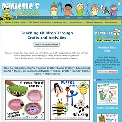 Danielle's Place of Crafts and Activities - Christian Crafts and Learning Activities for Children and Kids of all Ages