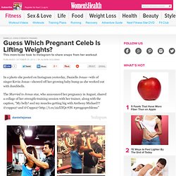 Danielle Jonas Lifting Weights While Pregnant