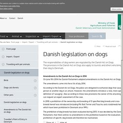 Danish legislation on dogs