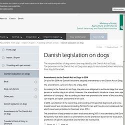 Danish legislation on dogs
