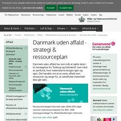 Danmark uden affald - strategi & ressourceplan