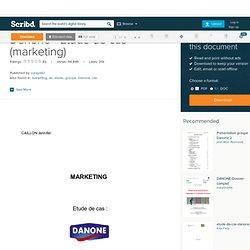 Danone - Etude de cas (marketing)