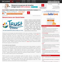 Danone lance Trust